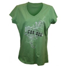 "Green CORBON ""Bullet & Flowers"" T-Shirt"